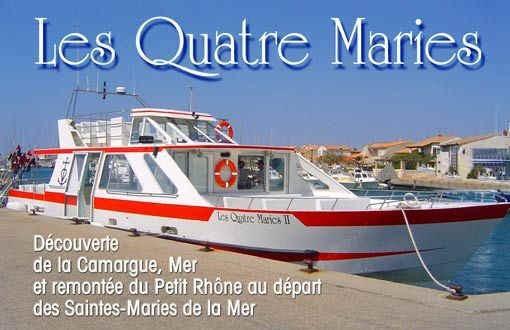 Camargue en bateau Les Quatre Maries